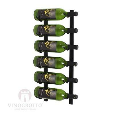Wine Master Cellars WS21-P 2ft. Wall Series 6 Bottle Wine Rack, Platinum