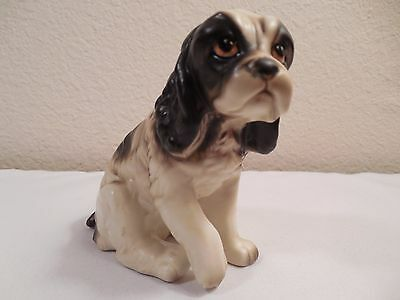 "Vintage Ceramic Cocker Spaniel Dog Figurine ~ 3 1/2"" Tall ~ Made In Japan"
