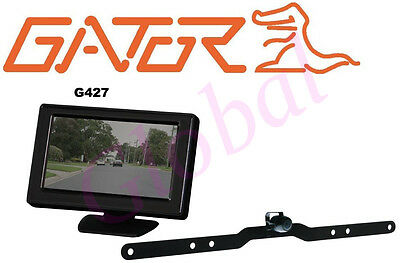"GATOR G427 REVERSING CAMERA SYSTEM WIRED w/ 4.3"" LCD MONITOR SUIT CARS 4WD *RFB*"