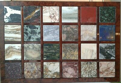 A Fine Italian Collection Of Specimen Marble  24 Plaques