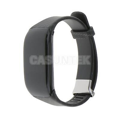 Waterproof Swimmer Tracker Smart Band Watch Fitness Heart Rate Monitor Black