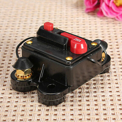 Top 60A - 250A AMP Car Auto Marine Boat Stereo Audio Inline Circuit Breaker Fuse