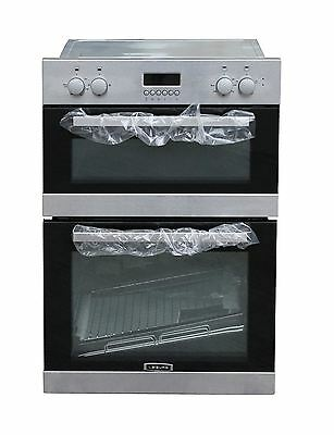 Leisure Built in double Electric Oven Tall Larder Unit Stainless Steel#2188