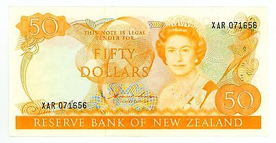 New Zealand ... P-174a ... 50 Dollars ... ND(1981-85) ... *XF-AU*
