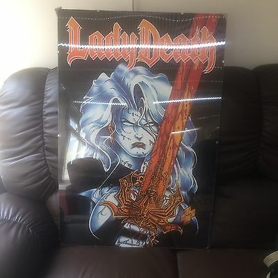 This Is A 1993 Lady Death Comic Poster