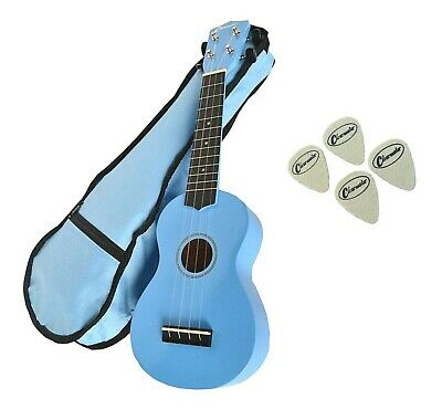 Clearwater Soprano Ukulele Light Blue Free Gig Bag 4 Felt Picks & Free Delivery