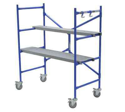 4 x 3.8 x 2-ft Heavy-Duty Portable Rolling Tower Scaffold 500 lb. Load Capacity