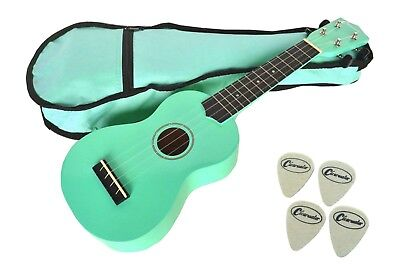 Soprano Ukulele  Sea Foam Green Free Gig Bag 4 Felt Picks & Free Delivery