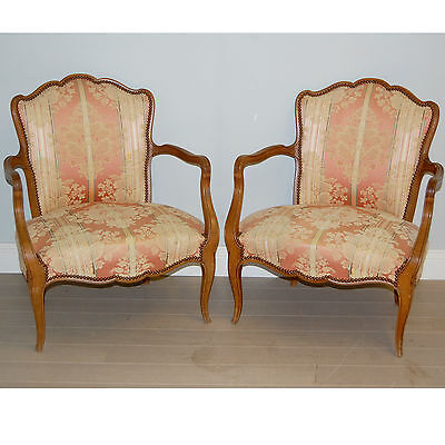 Pair of low French armchairs    Ref  a11736