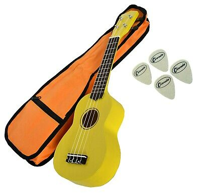 Clearwater Soprano Ukulele In Yellow Free Gig Bag  Free Delivery Great  Quality
