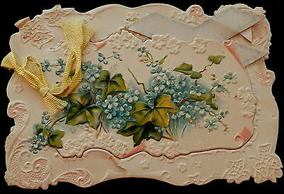 Victorian EASTER Greeting Card Opens in Center See Photos COMPLETELY SHOWN