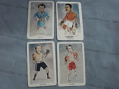 1979 Our Heroes Flik Card Boxing Muhammad Ali Cooper Minter Conteh