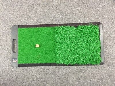GOLF 2 IN 1 Chipping Driving Drive Hitting Practice Mat - Turf Grass - Practice