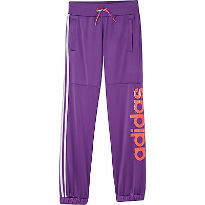 Size 5/6 Years Old - Adidas Originals Lin Essential Pants - Purple