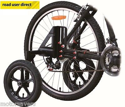 "Adult Bike Stabilisers / Mobility Wheels Fit 20"" 24"" 26"" 27"" 28/700"" Inc Post"