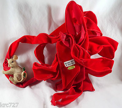 Charming Tails Mouse Card Holder Red Ribbon