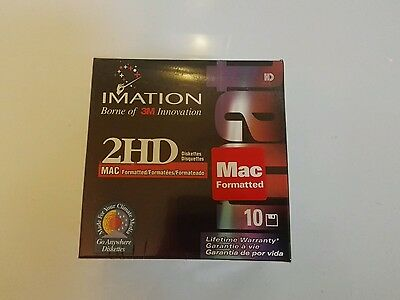 Imation Diskettes 2Hd Mac Formatted, Sealded Box. 10, 3.5 Inch Disk