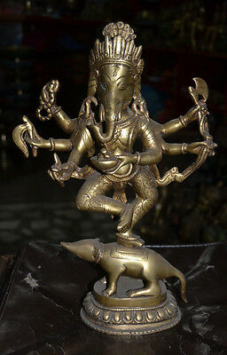 Stand  Ganesh  Bronze Hand Made in Nepal.Special Hindu God For Fortune Ganesha