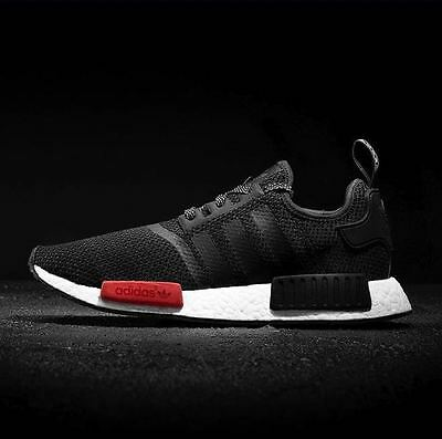 Adidas NMD R1 Black Red White Foot Locker Exclusive Men s Trainers  (AQ4498)(PTI 385577ead