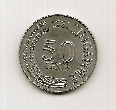 World Coins - Singapore 50 Cents 1981 Coin KM# 5