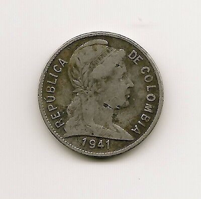 World Coins - Colombia 2 Centavos 1941 Coin KM # 198