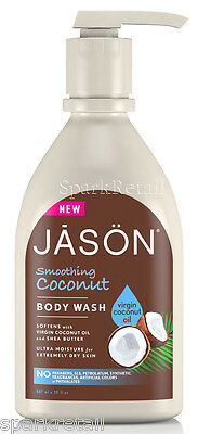 Jason Organic Smoothing Virgin COCONUT Oil Body Wash 887ml With Shea Butter