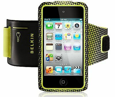 Belkin iPod Touch 4th Generation 4G ProFit Armband Case/Cover Black Yellow