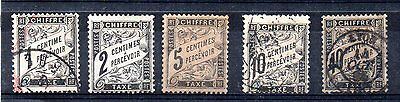 France// Timbres Taxes N°10/11 + 14/15 + 19 Neufs/obliteres