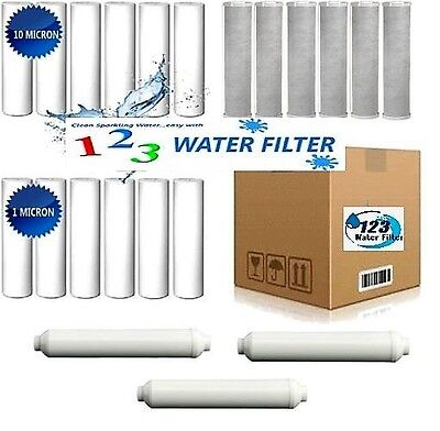 21 Reverse Osmosis Water Filter 6 5 micron 6 1 micron sediment 6 carbon 3 inline