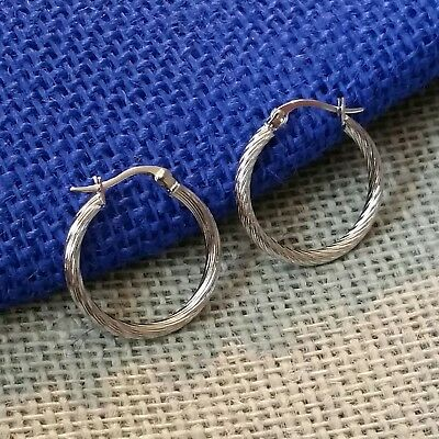 Surgical Stainless Steel Twisted 26mm Fancy Hoop Earrings Avant