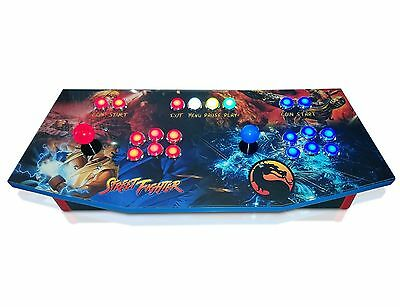 Arcade Control Panel with Custom Graphics and Sanwa Control Kit, MAME, Cam Lock
