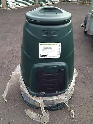 220L Plastic Compost Converter Bin Composting Garden Recycling, Rhubarb Forcing