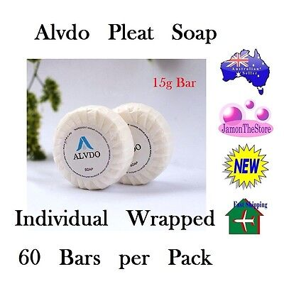 Alvdo Pleat Soap Guest Soap Individual Wrap Hotel Motel 15g x 60 bars Amenities