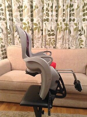 Hamax Rear Child Bike Seat  Grey And Purple Up To 22kg