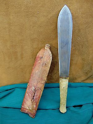 Authentic AFRICAN MAASAI HERDERS SWORD Kenya OL ALEM Seme KNIFE Tribal Blade