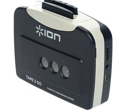 ION Tape 2 Go Cassette Tape to Digital MP3s Files USB Converter for PC & Mac