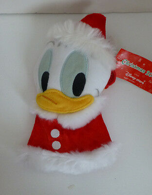 Japan Disney Santa Donald Christmas Plush Coin Purse