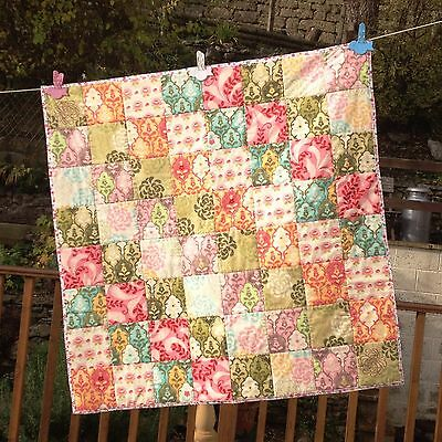 Handmade Patchwork Baby Quilt-Cotton Fabric/Wadding Moda Hunky Dory Modern