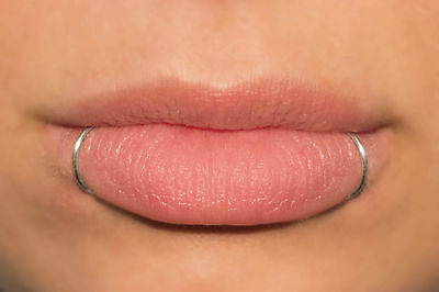 Fake Piercing, Snake Bites, Fake Lip Ring, 2 Lip Cuffs, silver, black, gold