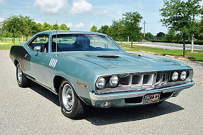 1971 Plymouth Barracuda Coupe 1971 Plymouth `Cuda Numbers Matching 383 V8 Big Block Engine Factory Air!