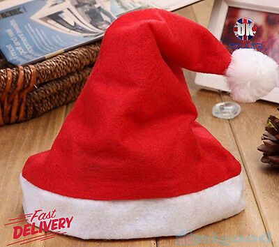 Children Kids Boys Girls Santa Claus Hat Christmas Xmas Party Costume Gift