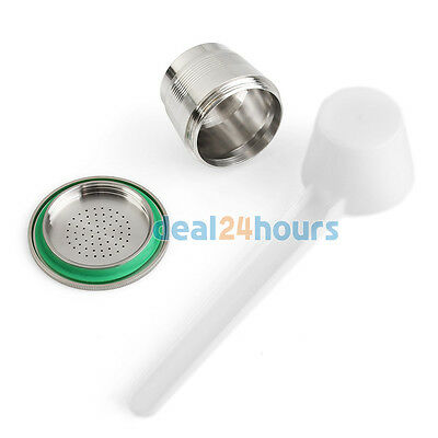 Stainless Steel Compatible set For Nespresso Machine Refillable Reusable Capsule