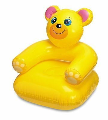 Animal Inflatable Chair, Yellow Bear Toy, Childrens Inflatable Toy