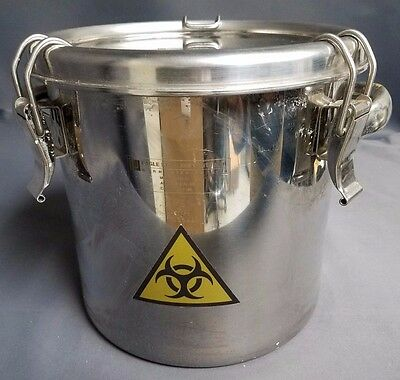 Eagle Stainless Container Model CTH-21 Alloy: T-316L SS 7 liter w/clamp lid