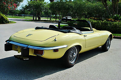 1974 Jaguar E-Type V-12 A/C 27K Miles Numbers Matching! Pristine 1974 Jaguar XKE Convertible V-12 A/C 27,418 miles best to be found wow