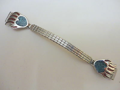 Native American Turquoise & Coral Ladies Watchband New