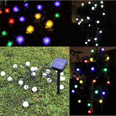 50 LED Fairy String Solar LED Bulb Light For Wedding Party Xmas Garden Decor NEW