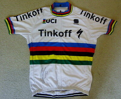 Peter Sagan signed 2016 World Championship Tinkoff cycling jersey Tour de France