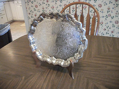 """F.B. Rogers Silver Company 14"""" Footed Serving Tray Platter"""
