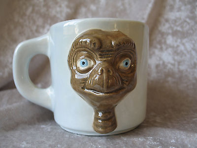 Vintage E.T. Extra Terrestrial Ceramic 3D Coffee Mug Tea Cup Signed by MC